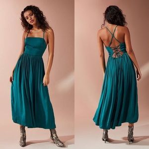 Urban Outfitters Morning Light Satin Midi Dress